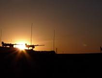Sunset over 50 cals, Rahim