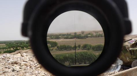 ACOG optical weapon sight, Saidan