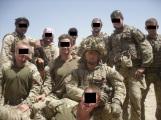 Tiger Team lads and Mastiff crew in desert leaguer