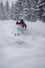 Author in Fresh Pow