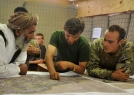 From left to right: District Community Councilor Abdul Haziz, Capt Abdul Manan, Major Dom Alkin