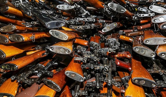 The Pentagon has lost hundreds of thousands of firearms.